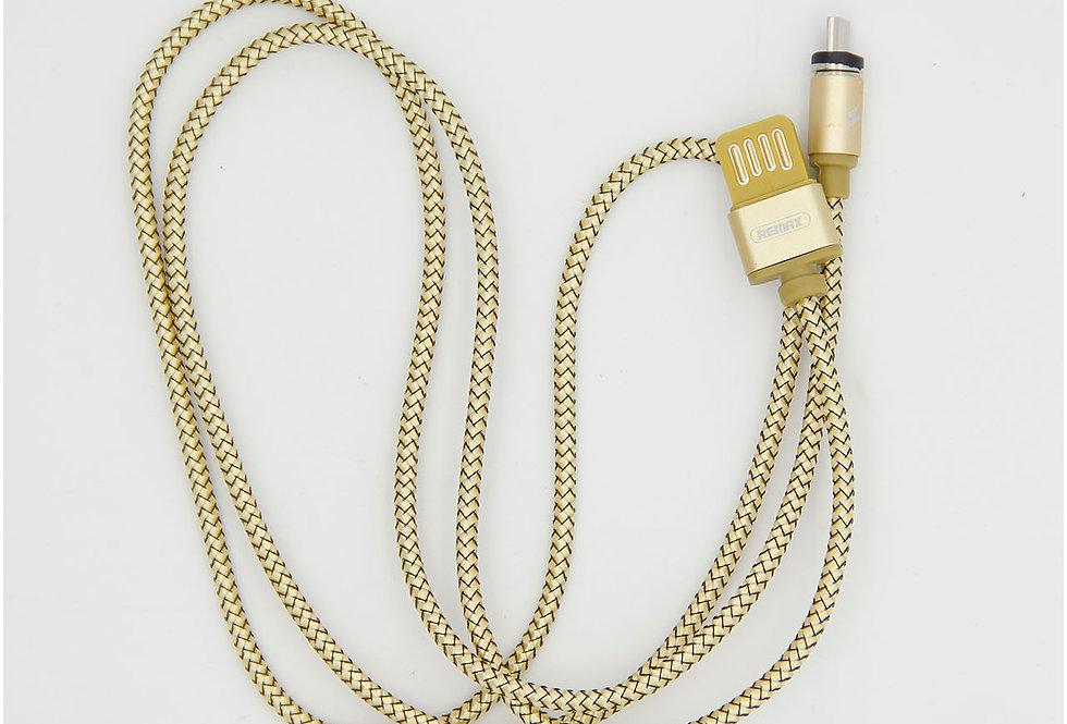 Зарядный магнитный кабель 1м Micro usb Remax