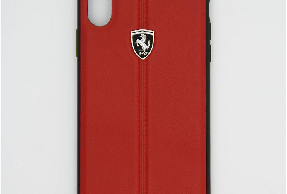Кожаный чехол на iPhone Xr Ferarri