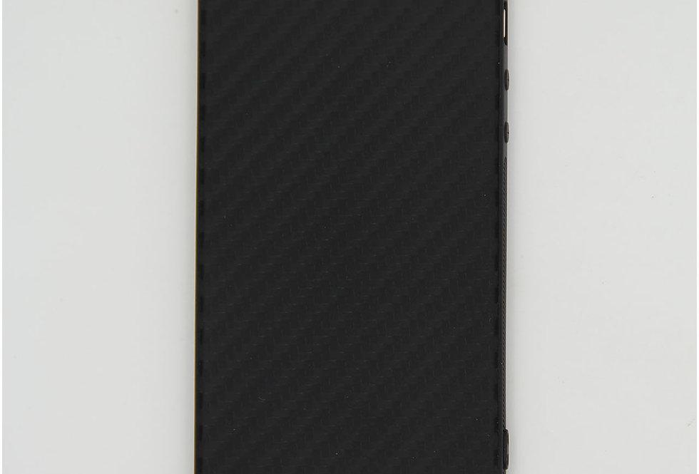 Чехол для iPhone7/8 черный силикон под карбон