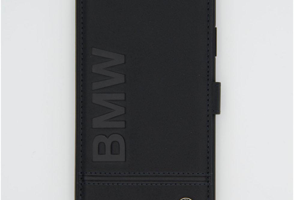 Кожаный чехол книжка на iPhone 11 BMW