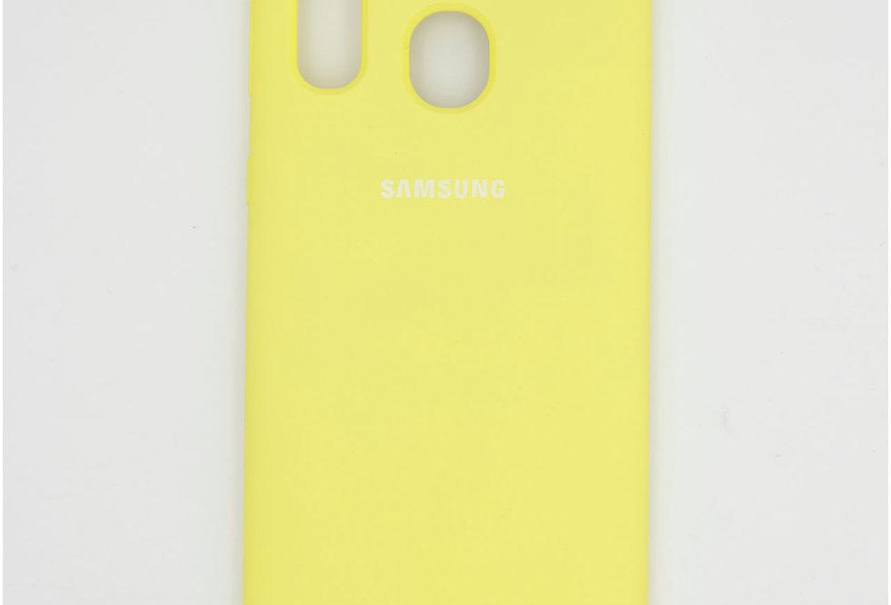 Силиконовый чехол на Samsung A40 Silicone Cover