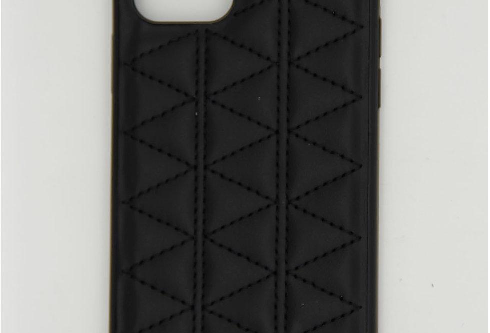 Чехол для iPhone 12 (6.1) Kajsa кожаный с прошивкой