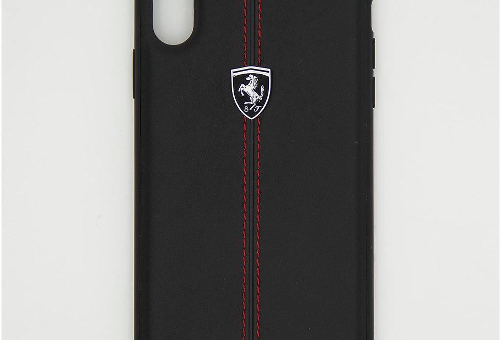 Кожаный чехол на iPhone XS Max Ferarri