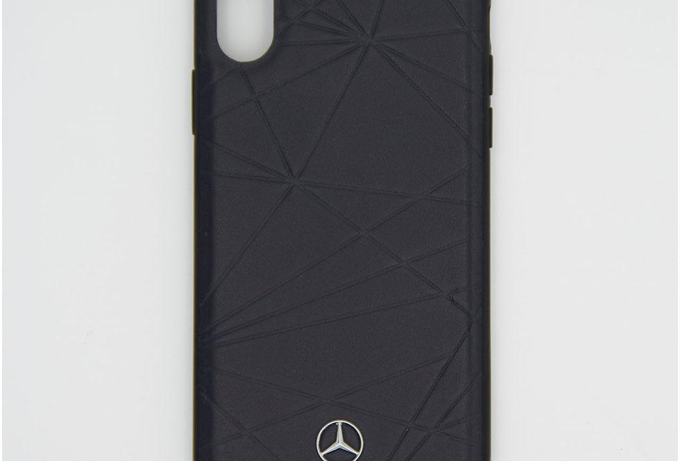 Кожаный чехол на iPhone Xs Mercedes