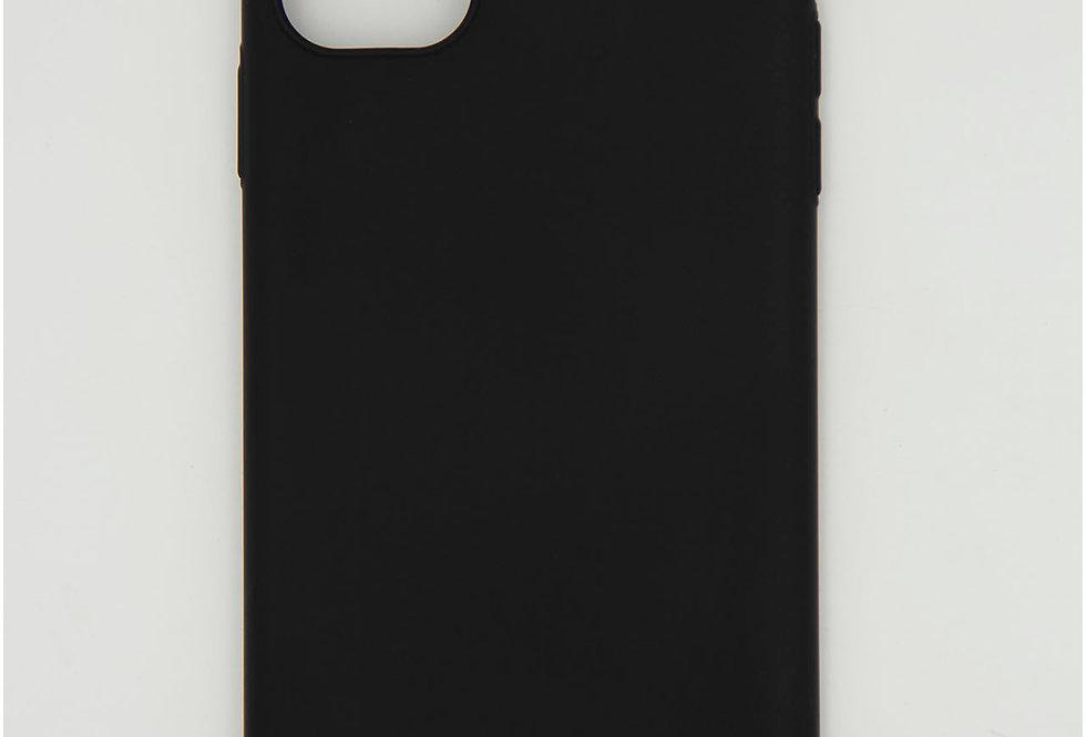 Чехол для iPhone 11 черный матовый пластик