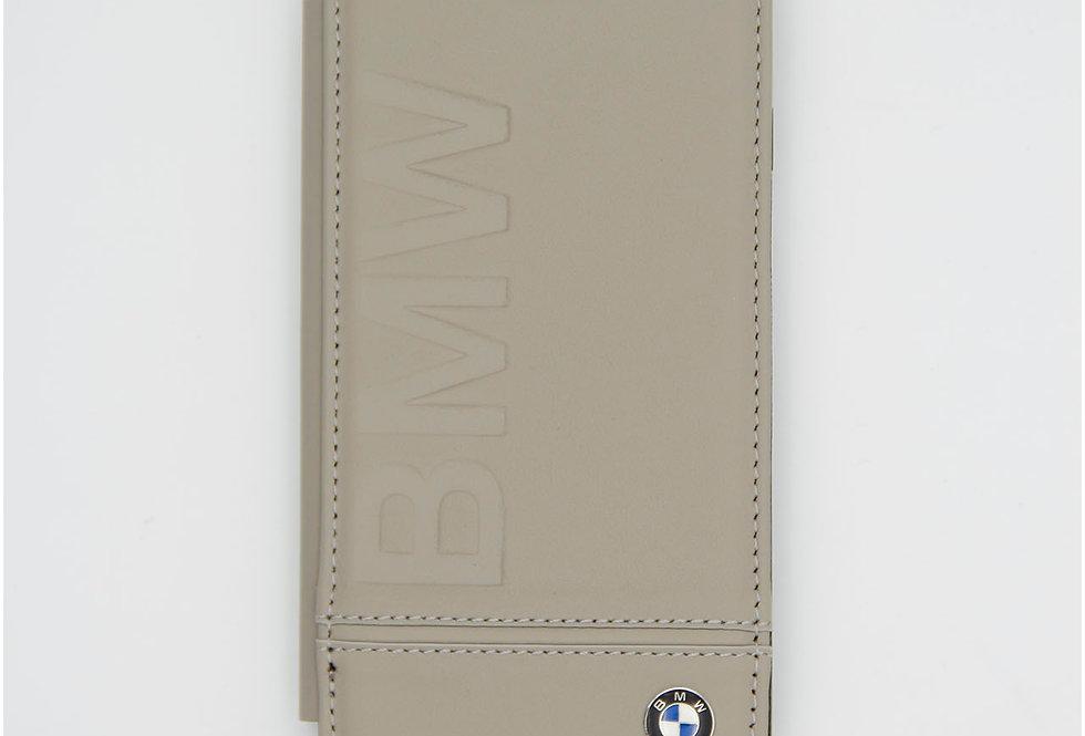 Кожаный чехол книжка на iPhone 8 BMW