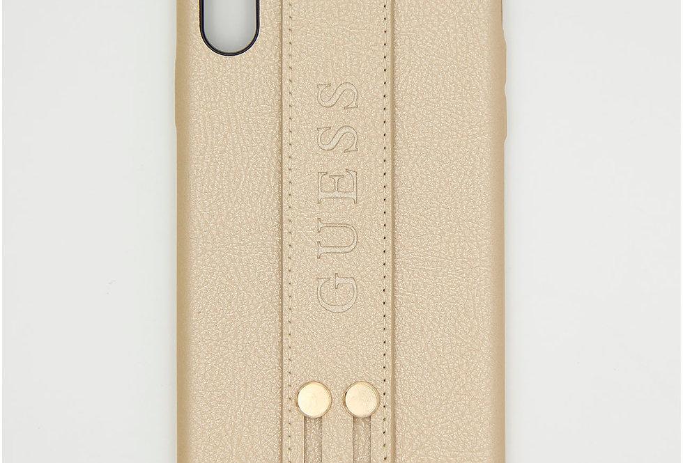 Кожаный чехол на iPhone Xs Max GUESS