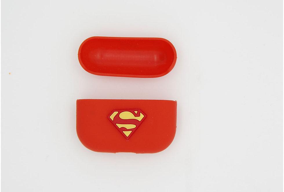 Чехол на AirPods логотип Superman
