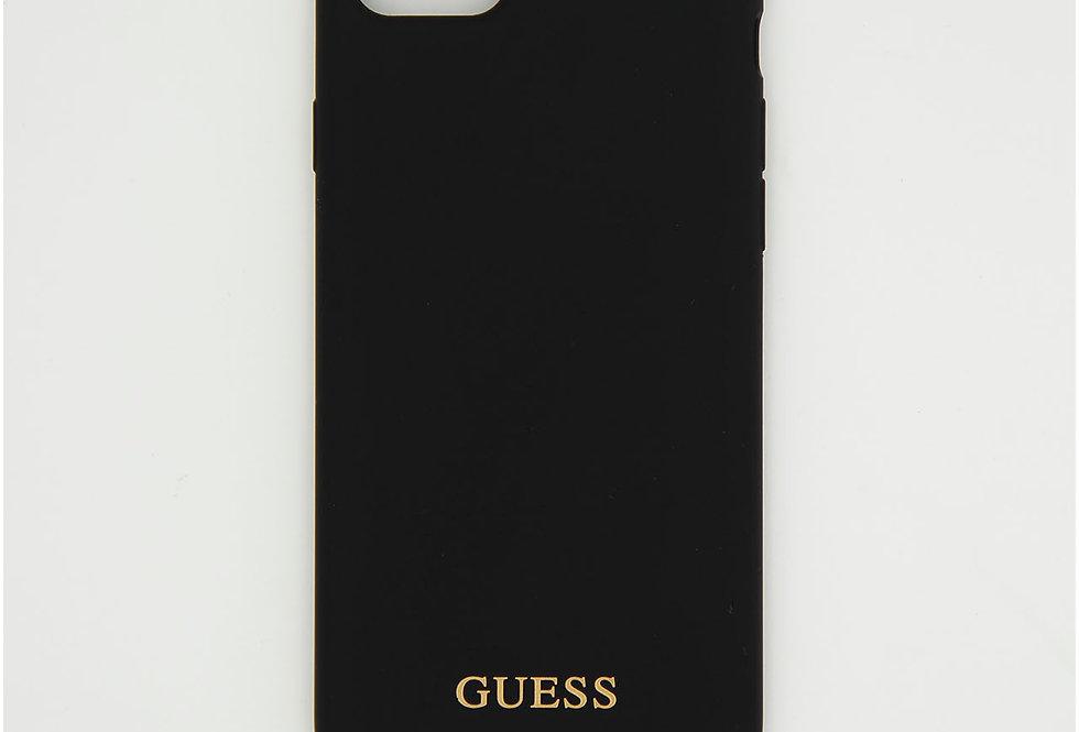 Силиконовый чехол на iPhone 8 логотип Guess