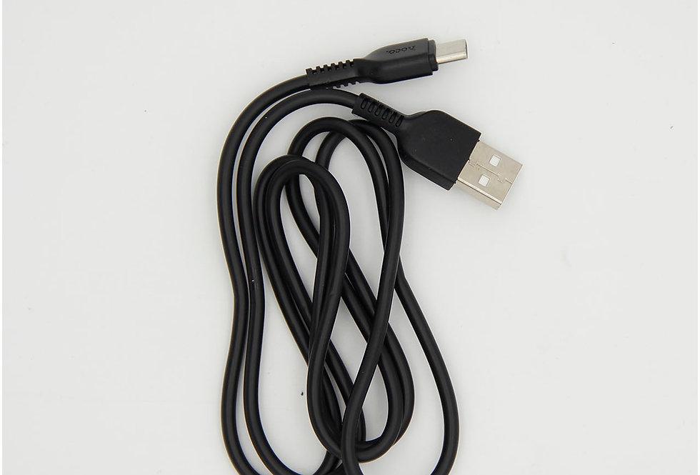 Зарядный кабель Type c 1м 2.4А Hoco.
