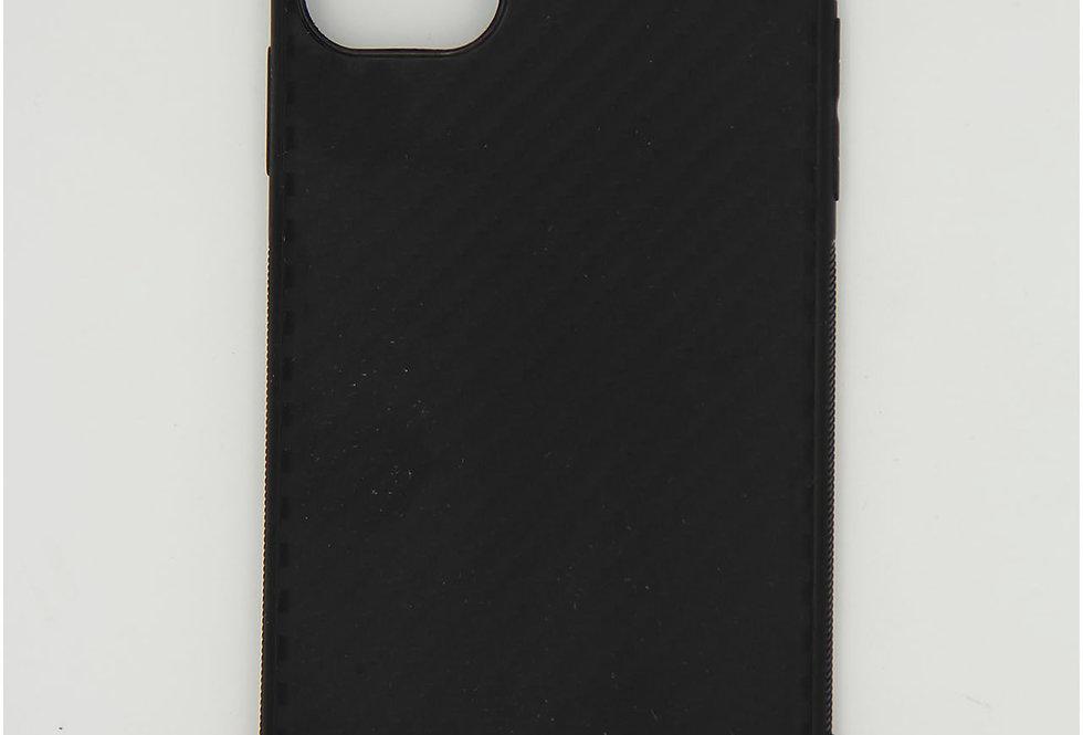 Чехол для iPhone 11 силикон под карбон