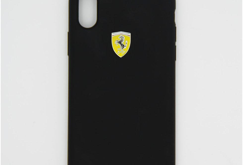 Силиконовый чехол на iPhone X Ferrari