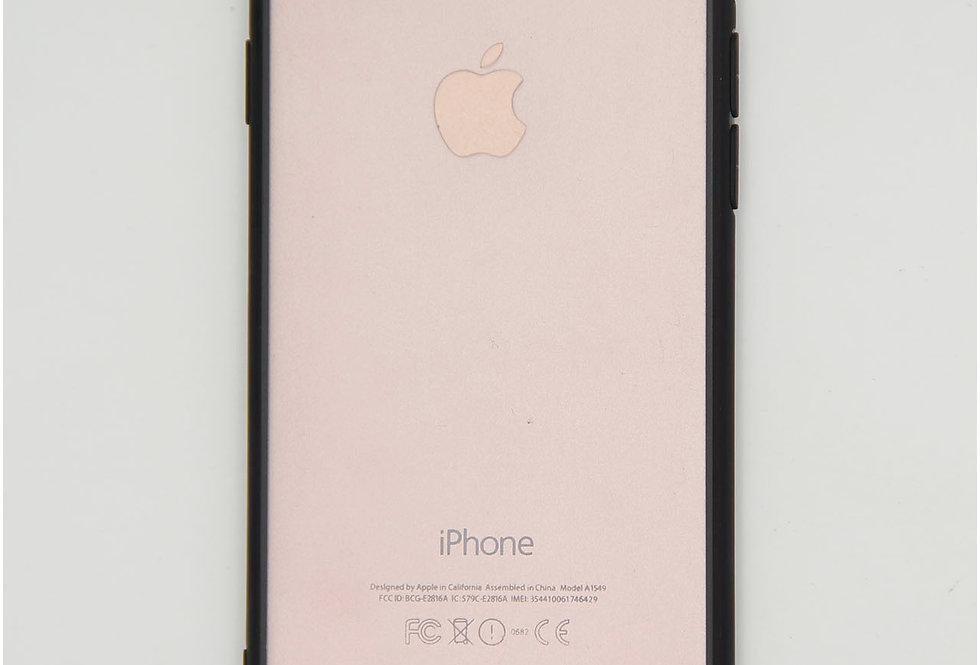 Чехол для iPhone 7/8 тонкий прозрачный пластик, дизайн с рамкой