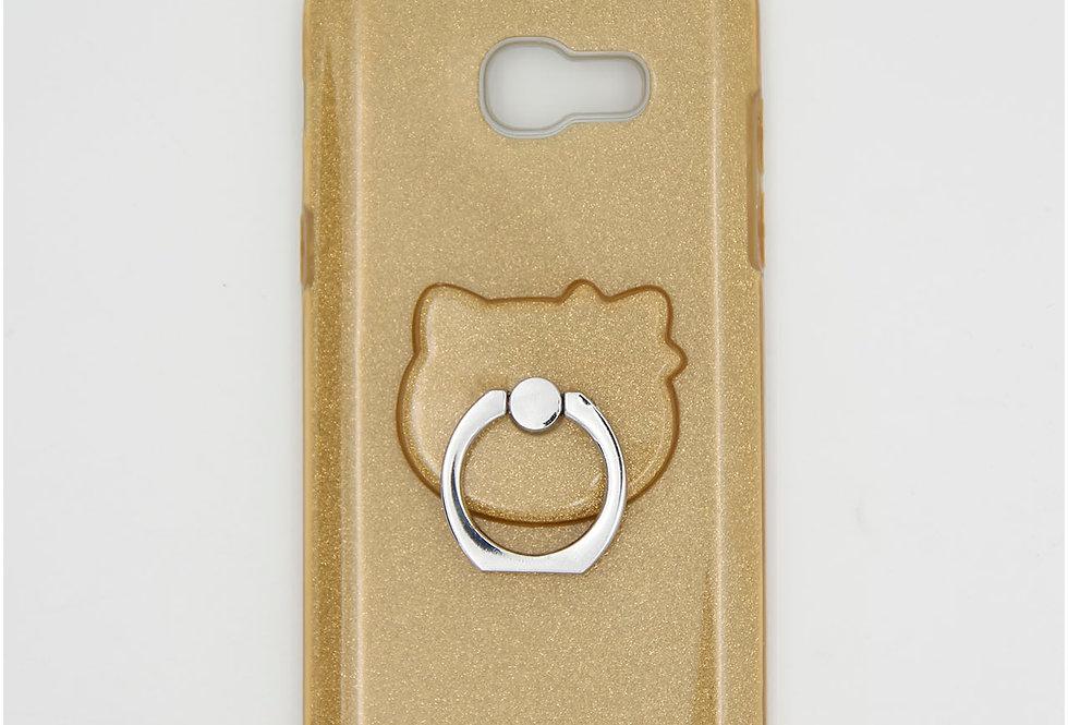 Трехсоставной силиконовый чехол на Samsung A3 2017 с кольцом-держателем