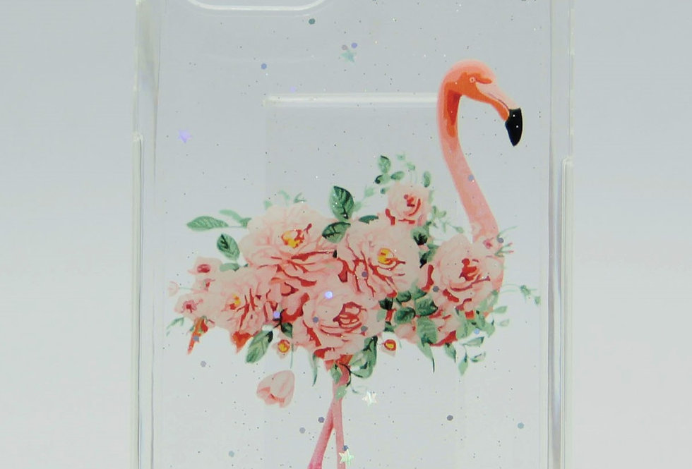 Прозрачный чехол для iPhone 12Pro Max с принтом Фламинго