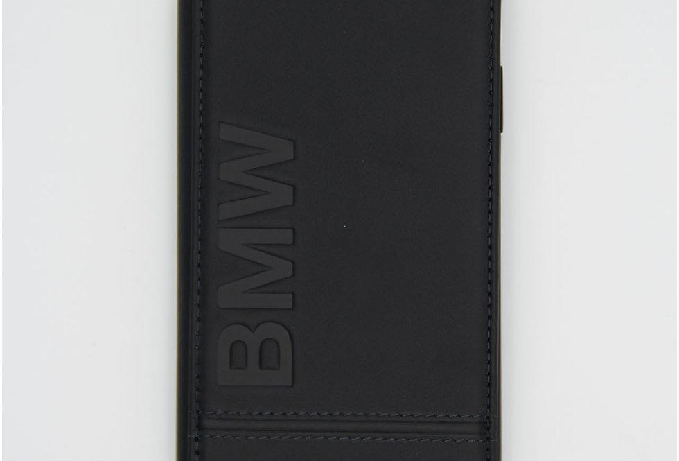 Кожаный чехол книжка на iPhone Xr BMW