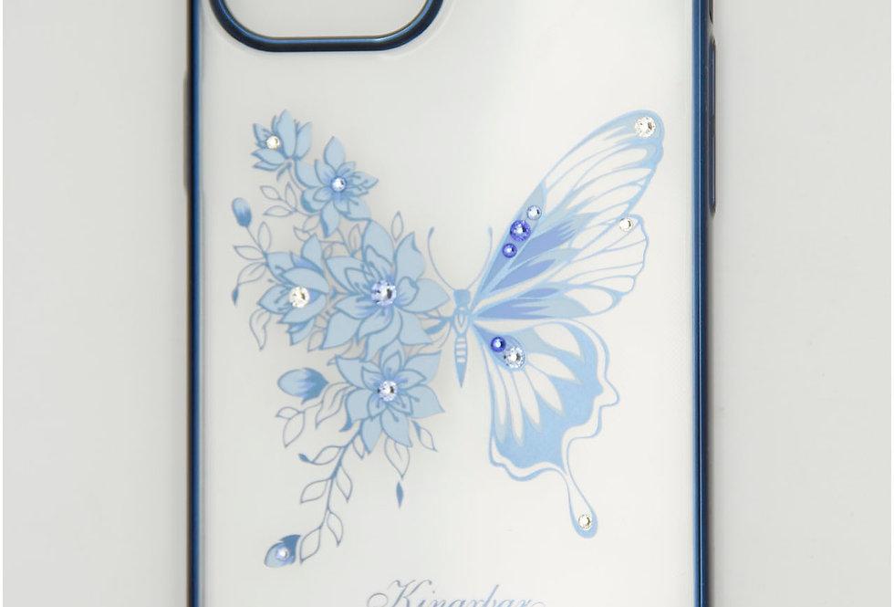 Чехол для iPhone 12 (6.7) Kingxbar прозрачный с бортом на фоне бабочка