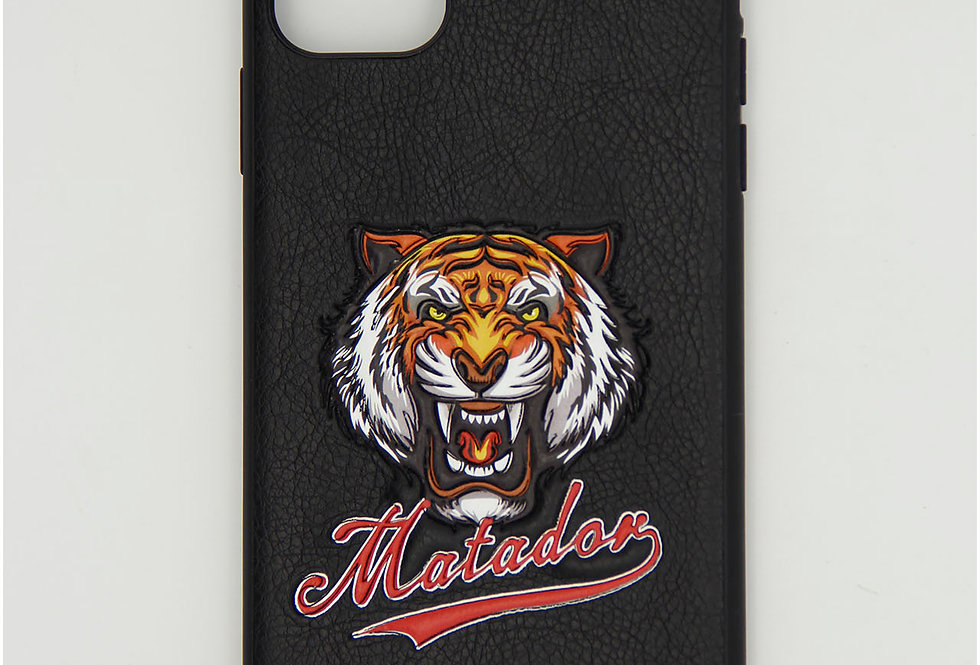 Чехол для iPhone 11 Pro Max под кожу с головой  тигра