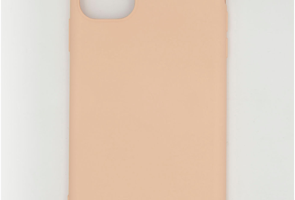 Чехол iPhone 11 Soft-touch силикон с тканевой подложкой