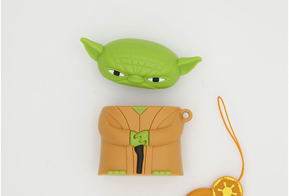 Чехол игрушка на AirPods Yoda