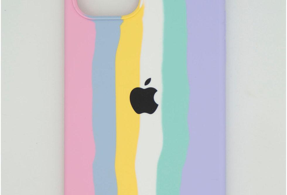 Чехол для iPhone 12 Pro Silicone Case радуга