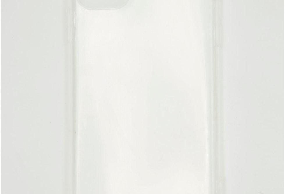 Чехол для iPhone 11 прозрачный силикон с заглушкой и с защитой на камеру