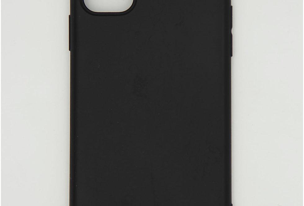 Чехол для iPhone 11 черный матовый силикон с заглушкой