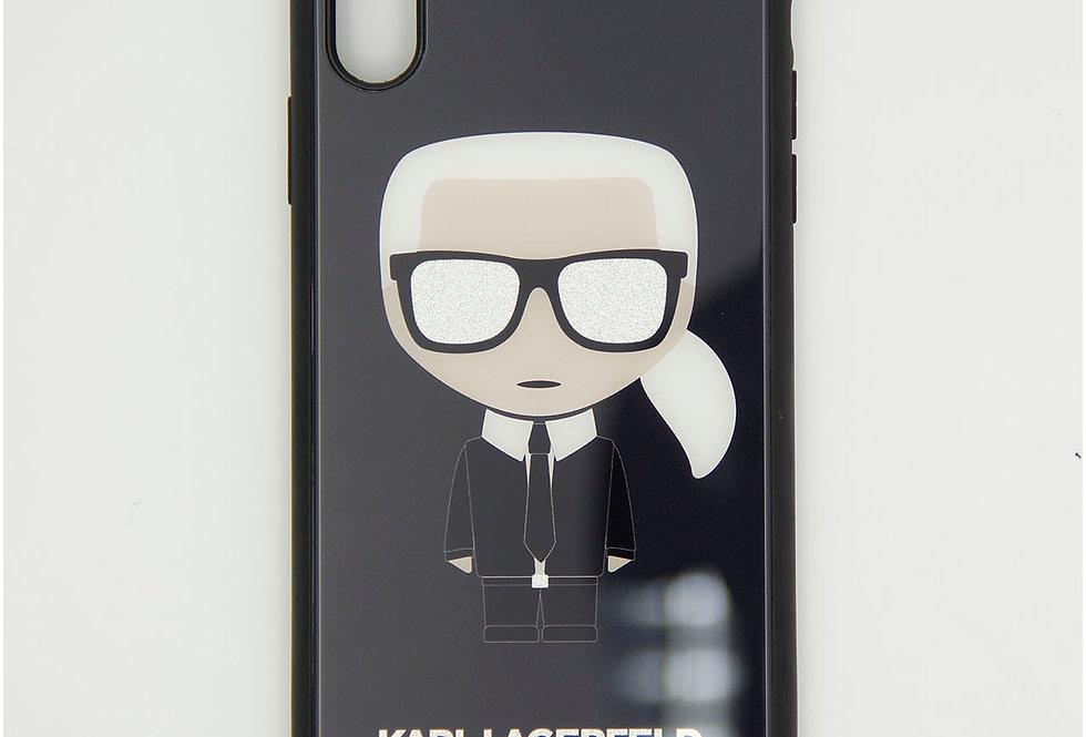 Стеклянный чехол на iPhone Xr Karl Lagerfeld
