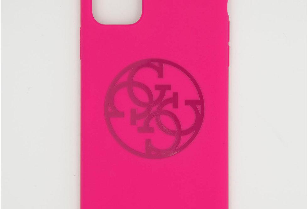 Силиконовый чехол на iPhone 11 pro Max логотип Guess