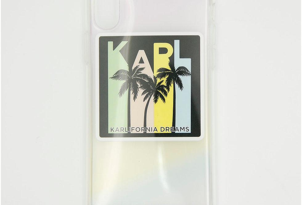 Силиконовый чехол на iPhone X/XS Karl Lagerfeld