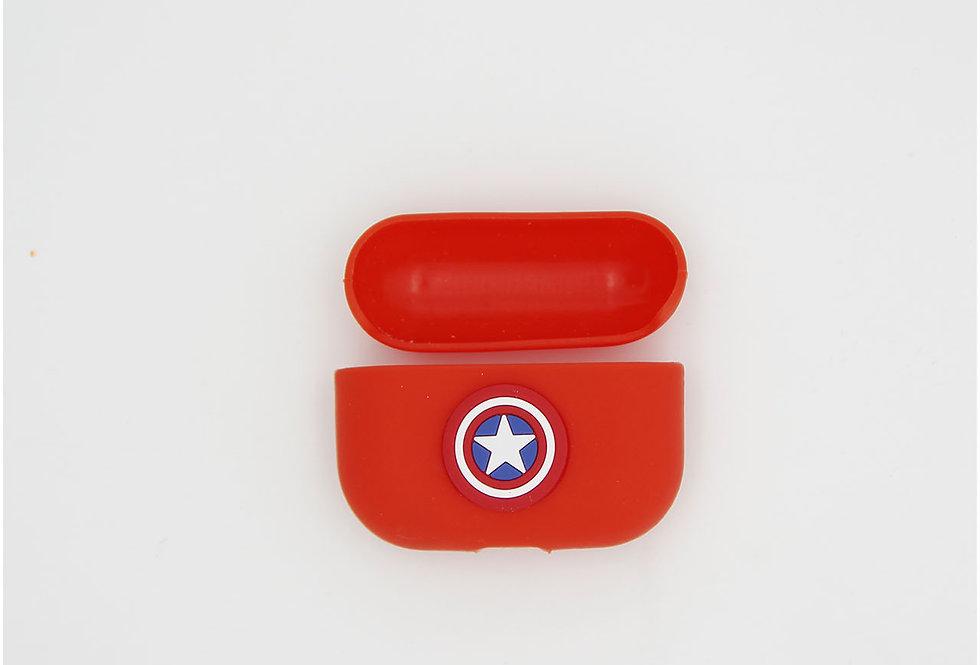 Чехол на AirPods логотип Captain America