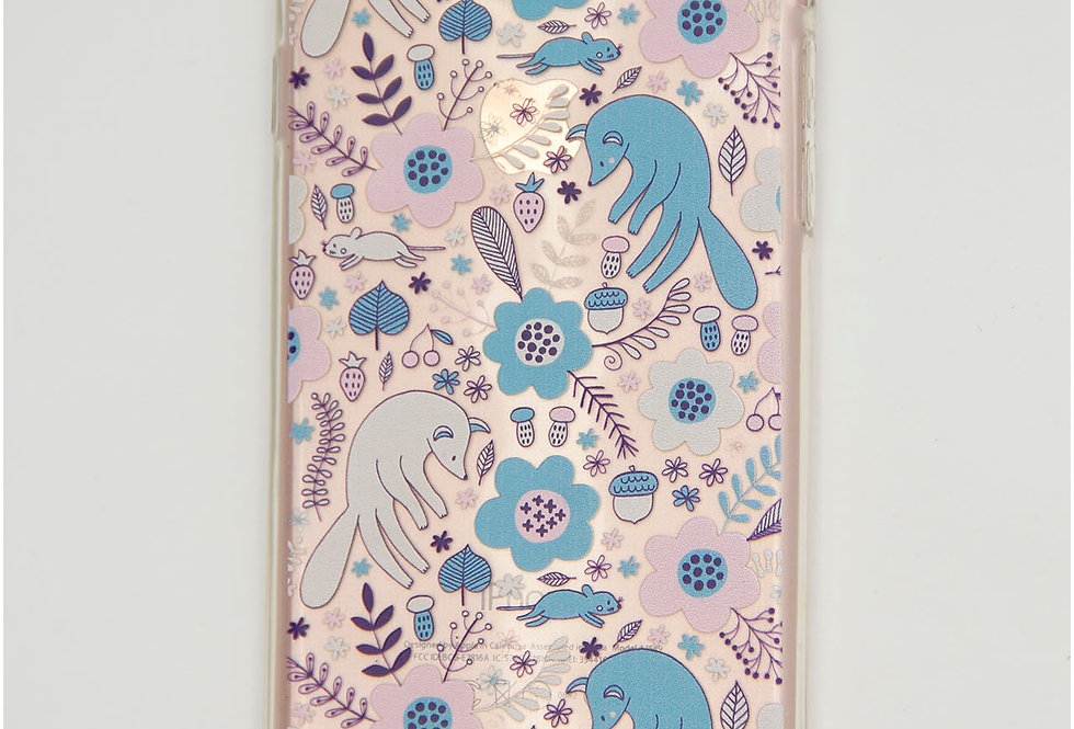 Чехол для iPhone 7/8 силикон прозрачный, цветы и звери