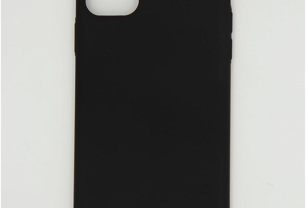 Чехол для iPhone 11 Pro Max черный матовый пластик