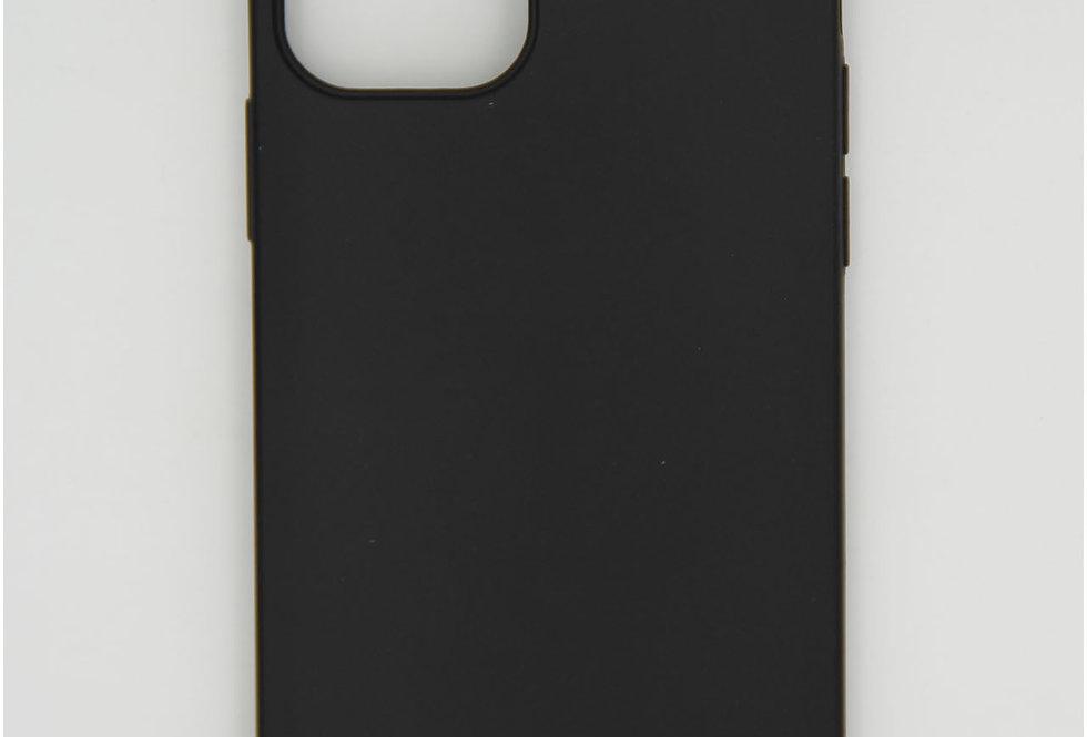 Чехол для iPhone 12 (6.1) черный матовый силикон