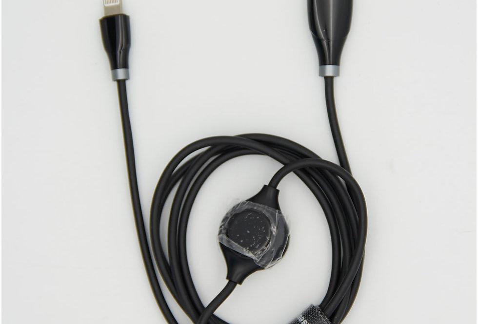 Зарядный кабель Lightning 120см 2А с дисплеем Baseus