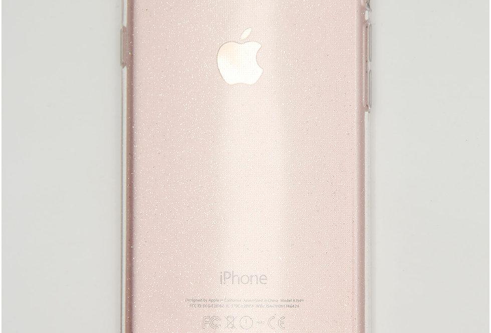 Чехол для iPhone 7/8 силикон прозрачный с блестками