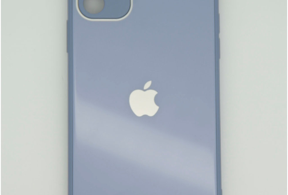 Чехол для iPhone 11 стеклянный под логотип с защитой камеры
