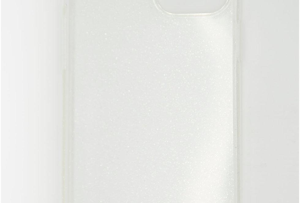 Чехол для iPhone 12 (6.7) прозрачный силикон с блестками