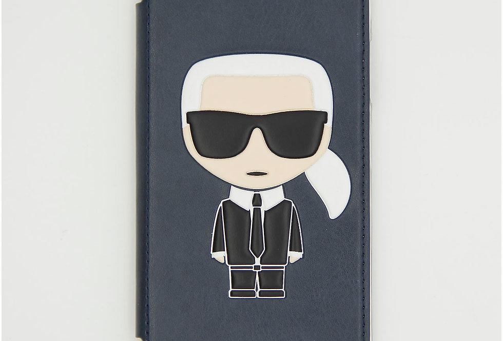 Чехол книжка на iPhone Xr кожаный Karl Lagerfeld