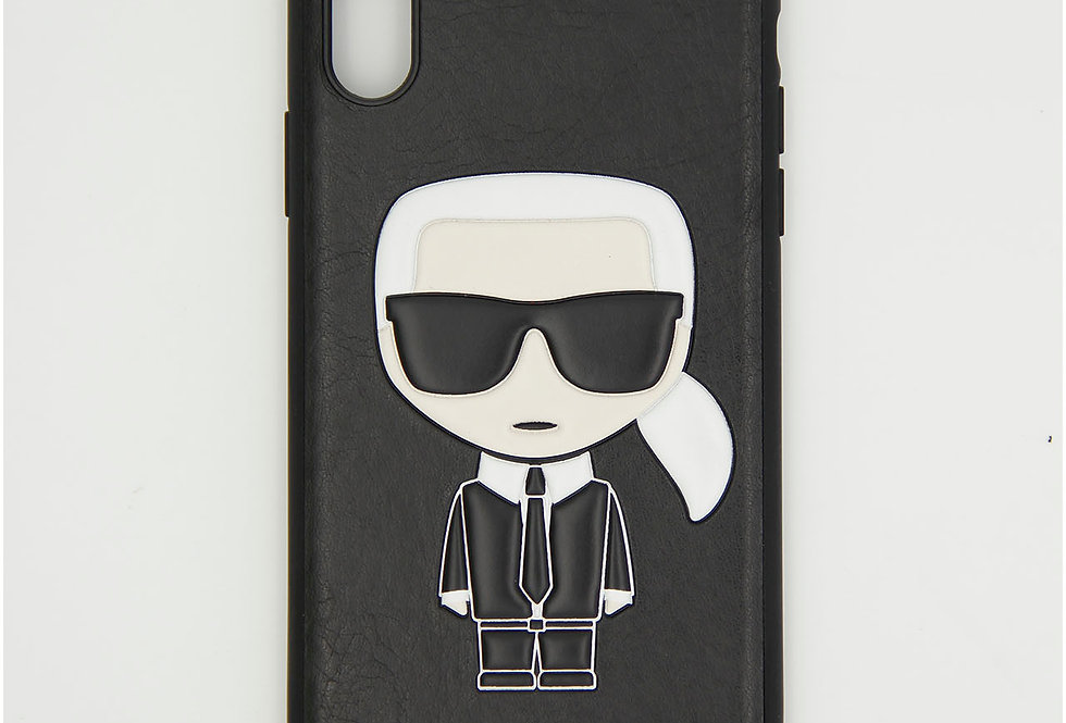Кожаный чехол на iPhone Xr Karl Lagerfeld