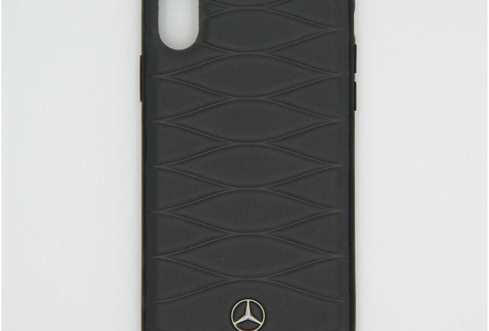 Кожаный чехол на iPhone X Mercedes