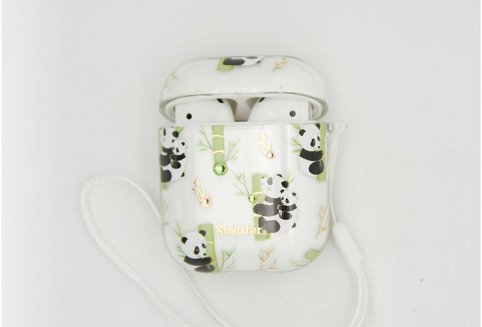 Чехол для AirPods 1/2 Kingxbar пластик с изображением панды