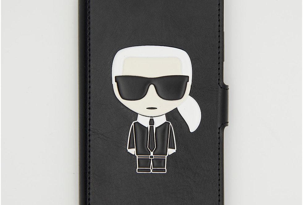 Кожаный чехол книжка на iPhone 11 Karl Lagerfeld