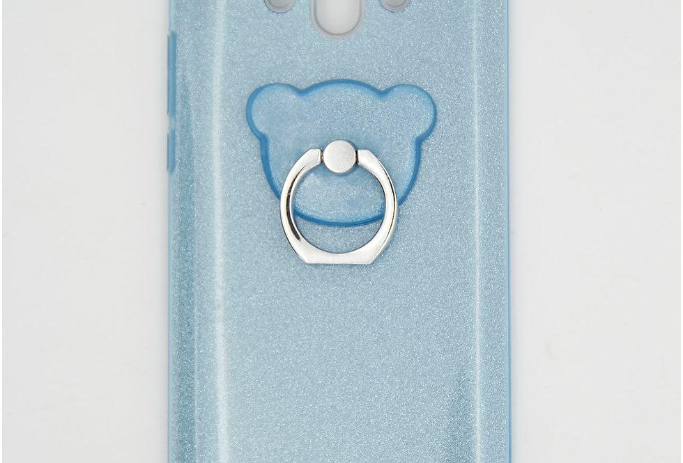 Трехсоставной силиконовый чехол на Huawei Honor Mate 10 с кольцом-держателем