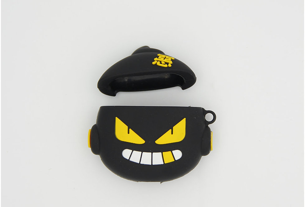 Чехол игрушка на AirPods Black bomb sonic