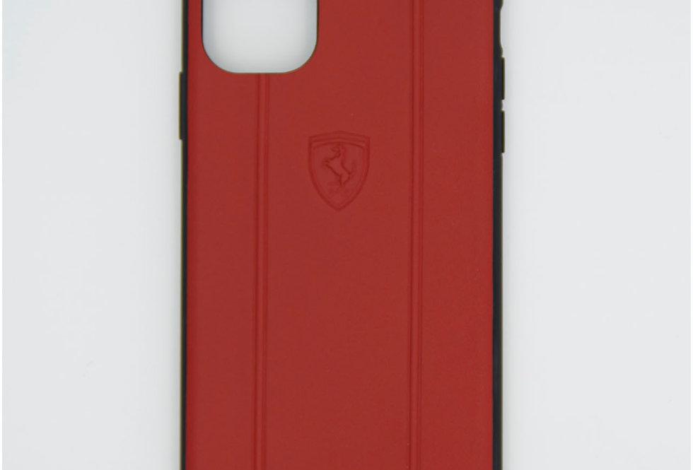 Кожаный чехол на iPhone 11 Ferrari