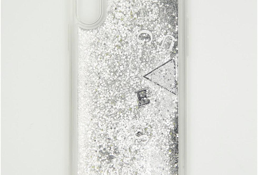 Силиконовый чехол c блестками на iPhone Xr GUESS