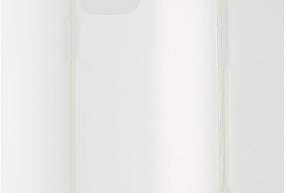 Чехол для iPhone 12 Pro KeepHone прозрачный пластик с силиконовым бортом