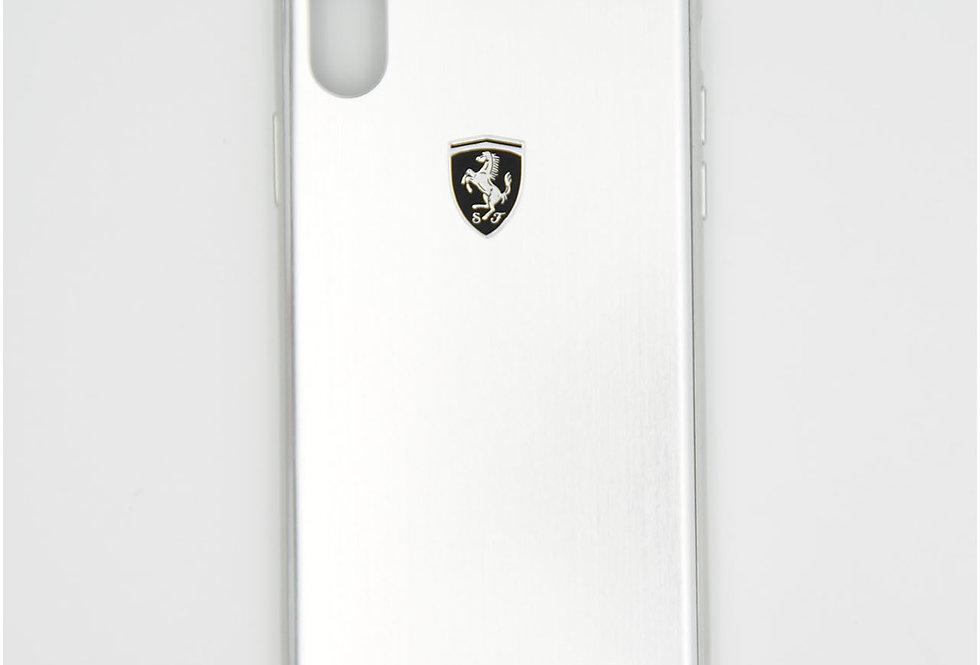 Алюминиевый чехол на iPhone X FERRARI