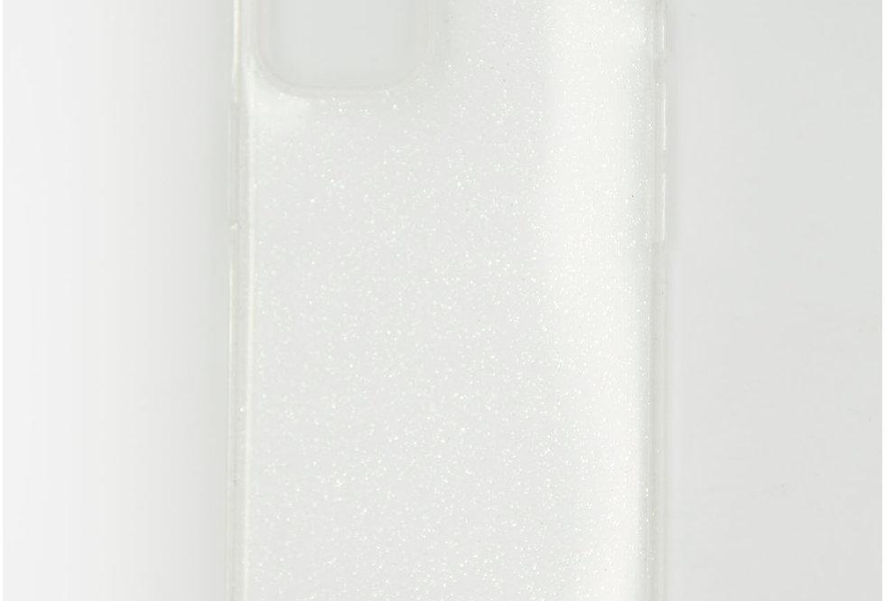 Чехол для iPhone 12 (5.4) прозрачный силикон с блестками